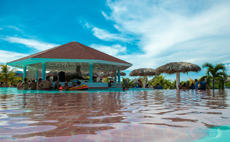 SANTA MARIA KEY, CUBA- AUGUST 2, 2014: Cuba is betting in the development of joint resorts with foreign investors. The next goal according to the official media is achieve 10,000 new rooms in resorts.