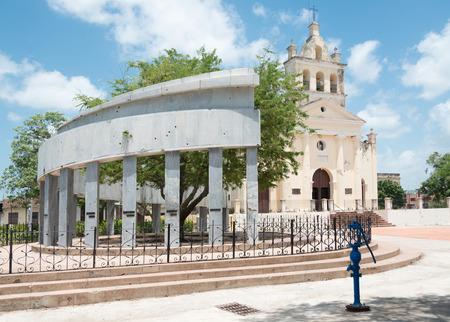 SANTA CLARA,CUBA-AUGUST 17,2014: Roman Catholic Church El Carmen and foundational monument of the city. The place is National Monument in Cuba and a tourist landmark. Editöryel