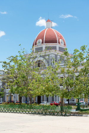center hall colonial: The Jose Marti plaza is a National Monument in Cuba and it holds many architecturally valuable buildings