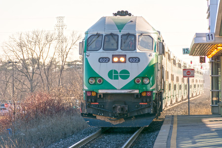 suburbian: GO Transit is an inter-regional public transit system in Southern Ontario, Canada. It primarily serves the Greater Toronto and Hamilton Area (GTHA) conurbation, with operations extending to several communities in the Greater Golden Horseshoe.
