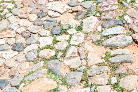 Colonial Cobblestone Street pattern or texture, abstract of a vintage road in Trinidad,Cuba photo