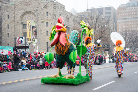 Toronto,Canada-November 16, 2014: The Toronto Santa Claus Parade is a Santa Claus parade held annually in mid-November in Toronto, Ontario, Canada. More than a half million people attend the parade every year. The televised parade starts after noon and la
