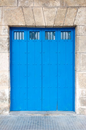 oldened: Architectural details of Old Havana, old vintage Spanish colonial large doors   Stock Photo