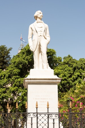 Statue to Carlos Manuel de Cespedes, father of the Cuban nation in Old Havana and Cuban president of the nation in arms against Spanish colonialism Editorial