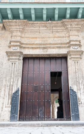 large doors: Architectural details of Old Havana, old vintage Spanish colonial large doors