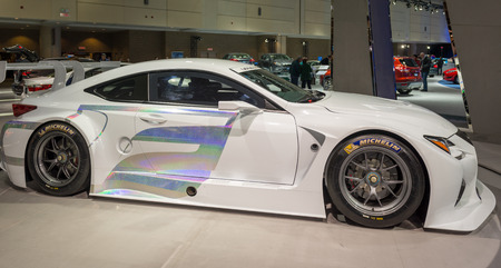 gt3: Lexus  RC F GT3 in The Canadian International AutoShow, CIAS for short, is Canada Editorial