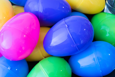 Traditional multicolor Easter eggs ready to celebrate, image is close up to form pattern