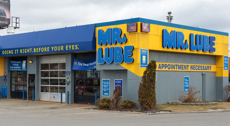 TORONTO,CANADA-APRIL 4,2015: Mr. Lube is a Canadian chain of automotive service centres. It was founded in 1976 by Clifford Giese. Mr. Lube is the largest quick oil chain in Canada.