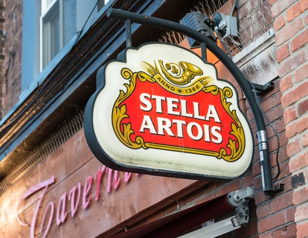 Stella Artois advertisement sign in Little Italy Stella Artois informally called Stella is a pilsner beer of between 4.8 and 5.2 ABV which has been brewed in Leuven Belgium since 1926 although it is also brewed in other locations.