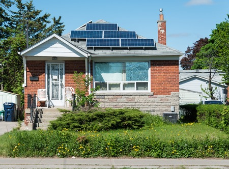 practical: Solar energy panels in private house practical  use of solar energy is becoming more popular in Canada some houses and transit signals are using the technology on an everyday basis
