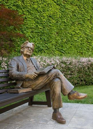 critic: Statue of literary critic Northrop Frye on a park bench at Victoria College, University of Toronto. Herman Northrop Frye was a Canadian literary critic and literary theorist, considered one of the most influential of the 20th century.