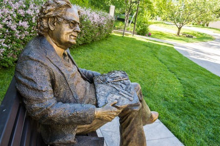 theorist: Statue of literary critic Northrop Frye on a park bench at Victoria College, University of Toronto, Herman Northrop Frye was a Canadian literary critic and literary theorist. Editorial