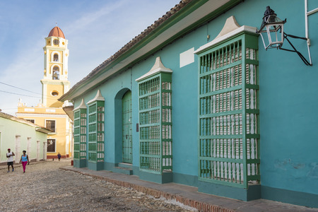 historian: Trinidad de Cuba: The Plaza Mayor of Trinidad which functions as plaza and an open-air museum of Spanish Colonial architecture.  In this image the cobblestones streets, the Saint Francis Convent and the house of the city Historian Editorial