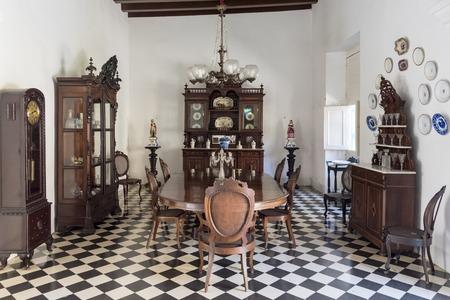 elite: The Dining hall at Museo de Arte Colonial, Sancti Spiritus, Cuba.