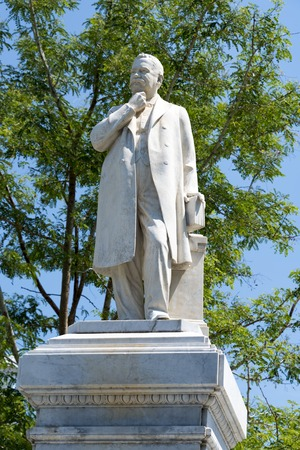 humanist: Statue of Dr. Rudesindo Antonio Garcia Rijo at the Honorato Park, Sancti Spiritus, Cuba. The statue was built as a tribute to his virtues of gratitude and justice.  Dr. Rijo was as an outstanding figure of the 19th century Cuban medicine and an illustriou Editorial