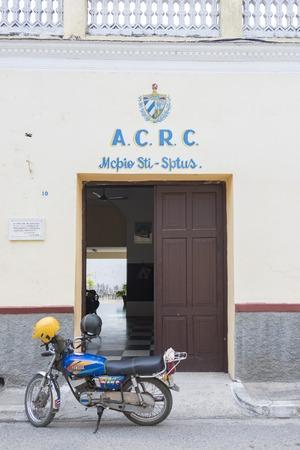 The Asociacion de Combatientes de la Revolucion Cubana, or ACRC office in Sancti Spiritus, Cuba.  Association of Combatants of the Cuban Revolution is a self-financed and voluntarily social organization to bring socialism in all fields.