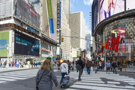 everyday scenes: Times Square a New York City attraction: everyday scenes of the famous landmark visited by millions every year in the United States of America.