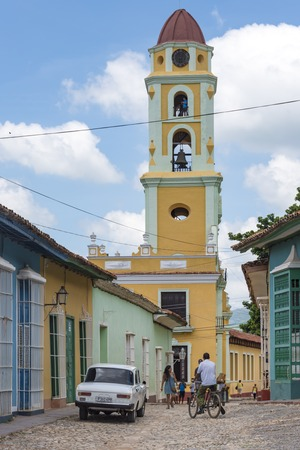 bandits: Cuba tourism: Tower of St. Francis of Assisi Convent and Church, Trinidad, UNESCO World Heritage Site, Cuba  The tower is located in the town Main Plaza and houses houses the Museum of the Fight against Bandits