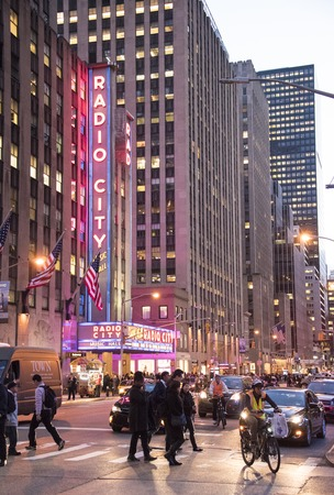 Radio City Music Hall in New York which is an entertainment venue located in Rockefeller Center.. Its nickname is the Showplace of the Nation, and it was for a time the leading tourist destination in the city.