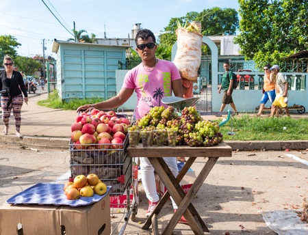 non: Cuba news: selling non tropical fruits like apples and grapes. Resellers buy apples from government stores and resell them at much higher prices in the Sunday free market.  These grapes are locally grown