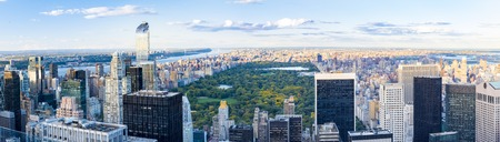 periods: New York sightseeing and attractions: Panoramic view of New York city skyline from the Rock Observatory.  New York has architecturally significant buildings in a wide range of styles spanning distinct historical and cultural periods. Editorial