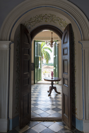 producers: Cuba tourism: Trinidad, Brunet Palace interior details. The palace shows the splendor in which sugar producers lived during the Spanish Colonial period. Trinidad de Cuba is a Unesco World Heritage Site Editorial