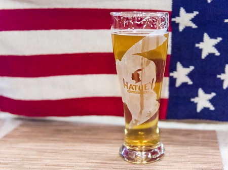 unbottled: Hatuey beer sold in a Times Square Cuban restaurant in New York city. Hatuey remained the most popular beer in Cuba during the revolutionary period. After a brand rights legal battle it is only produced in the United States.