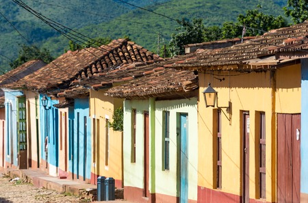 everyday: Cuba Tourism: Trinidad and its people. Everyday scene in the Unesco World Heritage Stie. A look to the vintage colonial village and the Cuban people living a normal live in there