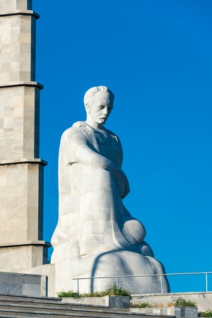 national hero: Cuban National Hero: Jose Marti statue and memorial at Revolution Square, Havana, Cuba.  Jose Marti is a Cuban national hero and is referred to as the Apostle of Cuban Independence. Editorial