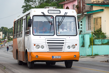 extent: Public transport, Santa Clara, Cuba: Giron buses run by government for everyday transport have helped in easing the transport problems to some extent.   Transportation in Cuba is improving after the economic reforms taken up by Raul Castro government.