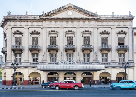 Cuba tours and attractions: Payret movie theatre in Havana with is classic colonial architecture.  Cine Payret is located in Habana Vieja area of central Havana, and is one of the largest cinemas in Havana. Editorial