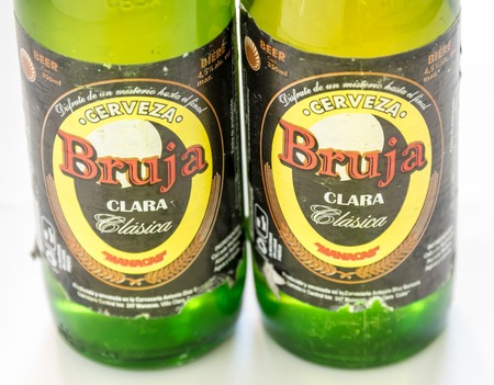 cuban culture: Cuba made products: Bruja beer produced in Manacas, Villa Clara, Cuba. It is one of the cheapest beers brewed at 4.5% alcohol.  Cuba is famous for its beverages like rum, beer and wine through which it promotes Cuban culture across the globe.