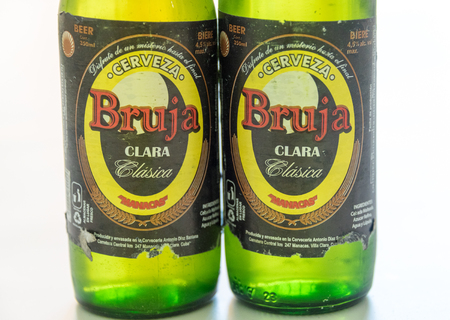 cuban culture: Cuba made Beer: Bruja beer produced in Manacas, Villa Clara, Cuba. It is one of the cheapest beers brewed at 4.5% alcohol.  Cuba is famous for its beverages like rum, beer and wine through which it promotes Cuban culture across the globe.