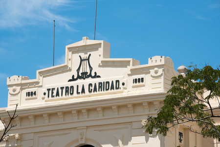 financed: Landmarks in Santa Clara, Cuba: Teatro La Caridad or The Charity Theater is a famous landmark and a great theater of the colonial era.  Situated near the Leoncio Vidal Plaza in Santa Clara, the theater was financed by a local philanthropist Marta Abreu de