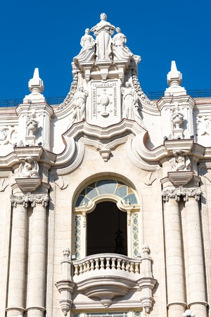 architectural heritage of the world: Old Havana, Cuba: Beautiful colonial architectural details  The Old Havana is a Unesco World Heritage Site and a major tourist attraction in the Caribbean Island Editorial