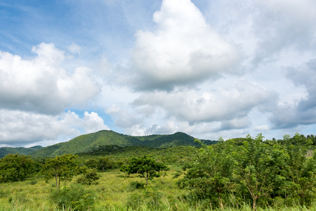 prevalent: Beautiful cloudscape in the Cuban countryside, Pinar del Rio,Cuba. Amazing blues and green tones are prevalent in the Cuban nature.