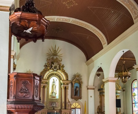 congregation: San Rosendo Cathedral, Pinar del Rio,Cuba. Interior Details. The temple is one of the main attractions in the city for tourists and works regularly with its congregation every Sunday morning