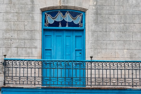 architectural heritage of the world: Old Havana,Cuba colonial architectural details. The landmark is a Unesco World Heritage site and a major tourist attraction and destination in the Caribbean Island