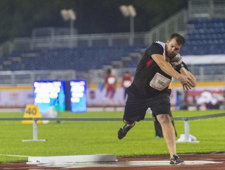 lanzamiento de bala: Josh Farrel desde Canad� establece un nuevo r�cord en Am�rica Lanzamiento de peso F20 final Hombres durante la competici�n del atletismo de los Juegos Parapanamericanos con un tiro de 14,05 m Editorial