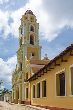 world heritage site: Cuba tourism: Tower of St. Francis of Assisi Convent and Church, Trinidad, UNESCO World Heritage Site, Cuba  The tower is located in the town Main Plaza and houses houses the Museum of the Fight against Bandits