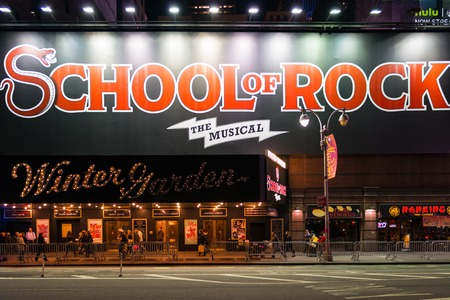letras musicales: New York City, USA: School of Rock the musical on Winter Garden Theatre School of Rock is a rock musical with music by Andrew Lloyd Webber, lyrics by Glenn Slater and a book by Julian Fellowes. Editorial
