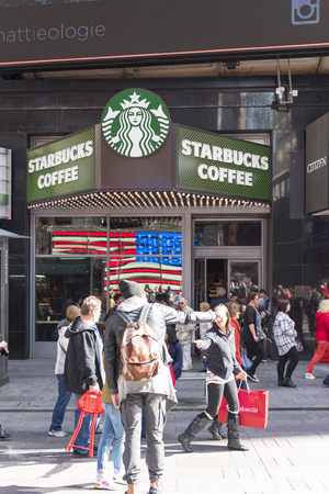 instant coffee: Starbucks store in New York City  Starbucks Corporation is an American coffee company and coffeehouse chain founded in Seattle. Starbucks locations serve hot and cold drinks, whole-bean coffee, microground instant coffee known as VIA, espresso, caffe latt
