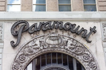 thea: Paramount Studios Sign  1501 Broadway, also known as the Paramount Building, is a 33-story, 391-foot office building located between West 43rd and 44th Streets in the Times Square neighborhood of Manhattan, New York City. It once housed the Paramount Thea