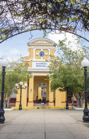assemblies: Sancti Spiritus City Hall or Municipal Popular Assembly building located in the city main plaza. The election of municipal assembly delegates involves nomination by voters in nomination assemblies, compilation and posting of candidate biographies, voting