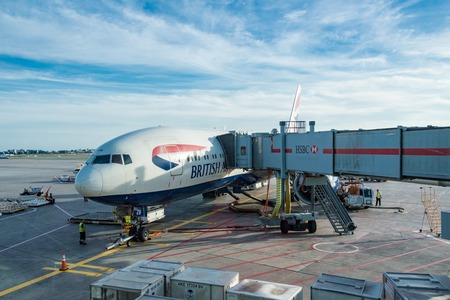 airways: British Airways plane in Pearson International Airport in Toronto,Canada. British Airways, often shortened to BA, is the flag carrier airline of the United Kingdom and the largest airline in the United Kingdom based on fleet size. When measured by passeng Editorial