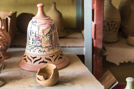 revitalization: Ceramic items produced in the Potter House or Casa del Alfarero run by Daniel Chichi Santander. The potter shop or taller del alfarero works on most of the reconstruction and revitalization projects for vintage buildings in the island. Editorial