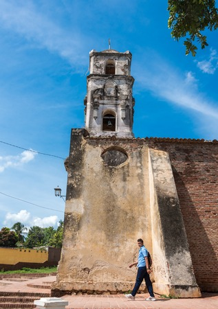 architectural heritage of the world: Unrepaired Santa Ana Church architectural details. This church dating from 1812 has long been abandoned and is in danger of falling down. Trinidad de Cuba is a Unesco World Heritage site and a major tourist landmark.
