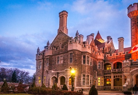 gothic revival style: Casa Loma Medieval Castle. Hill House, is a Gothic Revival style house and gardens in midtown that is now a museum and landmark. Editorial