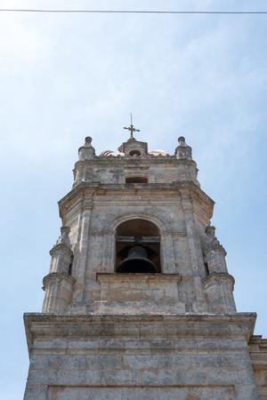borromeo: Cathedral of San Carlos De Borromeo architectural details: tower highest point