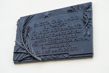 natal: Natal house of Ignacio Agramonte:  Cuban revolutionary, who played an important part in the Ten Years War (1868?1878).